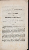 Books:Americana & American History, [Texas Republic]. Laws of the Republic of Texas in TwoVolumes with a Barnard Bee Document Signed....