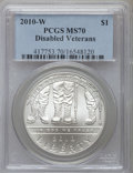 Modern Issues, 2010-W $1 Disabled Veterans MS70 PCGS. PCGS Population (1501). NGCCensus: (3252). Numismedia Wsl. Price for problem free ...