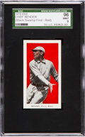 """Baseball Cards:Singles (Pre-1930), 1910 E98 """"Set of 30"""" Chief Bender, Red """"Black Swamp Find"""" SGC 96Mint 9 - The Last """"Mint"""" Bender Not In Private Hands!..."""