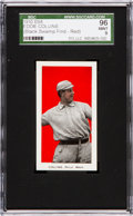 """Baseball Cards:Singles (Pre-1930), 1910 E98 """"Set of 30"""" Eddie Collins, Red """"Black Swamp Find"""" SGC 96Mint 9 - Pop Two, The Last Mint Example Available!..."""