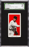 "Baseball Cards:Singles (Pre-1930), 1910 E98 ""Set of 30"" Russ Ford, Red ""Black Swamp Find"" SGC 96 Mint9 - One of Two Mint Examples! ..."