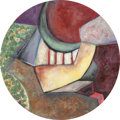 Fine Art - Painting, American:Contemporary   (1950 to present)  , PAMELA NELSON (American, b. 1947). Charlie, 1994. Oil oncanvas. 15-3/4 x 15-3/4 inches (40.0 x 40.0 cm) (oval). Signed,...