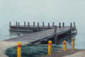 Fine Art - Painting, American:Contemporary   (1950 to present)  , PATRICK FAULHABER (American, b. 1946). Westside Dock, 1994.Oil on panel. 4 x 6 inches (10.2 x 15.2 cm). Signed and date...