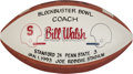 Football Collectibles:Balls, 1993 Bill Walsh Presentation Game Football from Stanford Vs. Penn State Blockbuster Bowl....