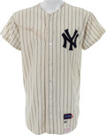Baseball Collectibles:Uniforms, 1966 Mickey Mantle Game Worn New York Yankees Jersey....