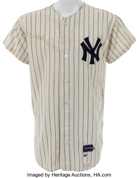 1966 Mickey Mantle Game Worn New York Yankees Jersey.... Baseball ... e1f01dad22a