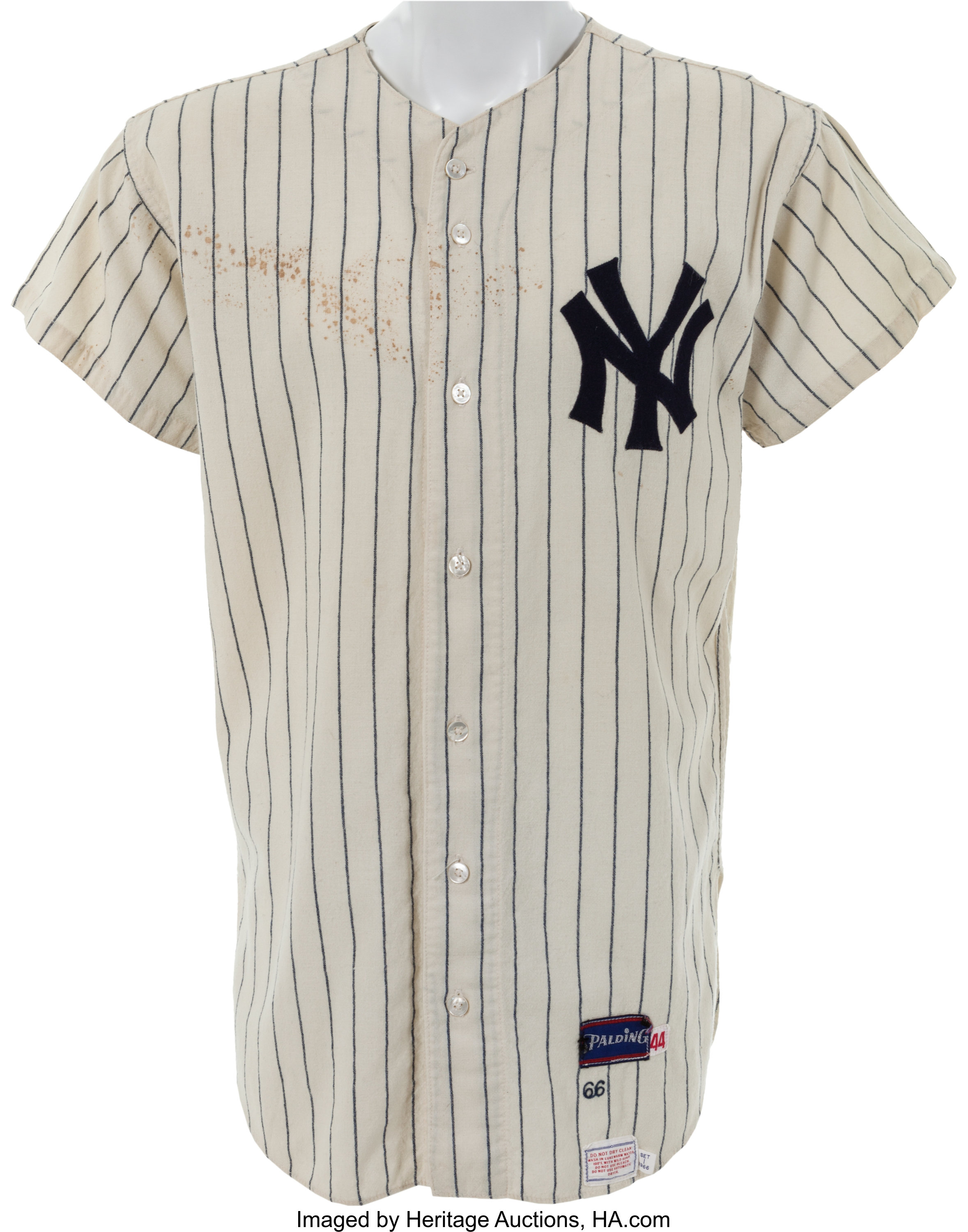 the latest e13dc 34b5e 1966 Mickey Mantle Game Worn New York Yankees Jersey ...