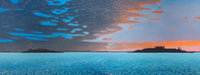 BILL SULLIVAN (American, 1942-2010) Harbor of Hope III, 1985 Oil on canvas 36 x 96 inches (91.4 x