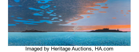 BILL SULLIVAN (American, 1942-2010)Harbor of Hope III, 1985Oil on canvas36 x 96 inches (91.4 x 243.8 cm)Signed a...