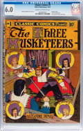 Golden Age (1938-1955):Classics Illustrated, Classic Comics #1 The Three Musketeers - Original Edition (ElliottPublishing, 1941) CGC FN 6.0 Cream to off-white pages....