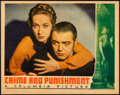 "Movie Posters:Drama, Crime and Punishment (Columbia, 1935). Lobby Card (11"" X 14"").. ..."