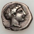 Ancients:Greek, Ancients: LUCANIA. Metapontum. Ca. 400-340 BC. AR nomos (7.56gm)....