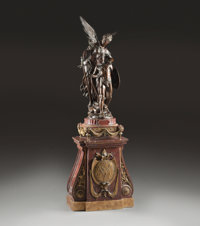 MATHURIN MOREAU (French, 1822-1912) Victoire Bronze with brown patina 39 inches (99.1 cm) high on