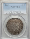 Bust Half Dollars: , 1809 50C Normal Edge XF40 PCGS. PCGS Population (68/373). NGCCensus: (50/350). Mintage: 1,405,810. Numismedia Wsl. Price f...