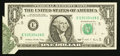 Error Notes:Foldovers, Fr. 1914-E $1 1988 Federal Reserve Note. About Uncirculated.. ...