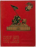 Books:Americana & American History, [USMC Yearbook].United States Marine Corps Recruit Depot: ParrisIsland, South Carolina. Platoon 1034. [1981]. Red p...