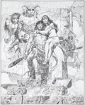 Original Comic Art:Miscellaneous, Sanjulian (Manuel Perez Clemente) Conan: The Jewels ofGwahlur Preliminary Artwork Original Art (undated)....