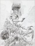 Original Comic Art:Miscellaneous, Sanjulian (Manuel Perez Clemente) The Treasure of Tranicos (TheBlack Stranger) Conan Pencil Illustration Original...
