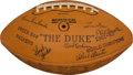 Football Collectibles:Balls, 1963 Green Bay Packers Team Signed Football - Mint Condition! ...