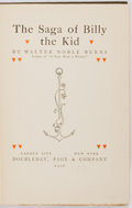 Books:Americana & American History, Walter Noble Burns. The Saga of Billy the Kid. Garden City:Doubleday, [1926]. Later edition. Publisher's binding, w...