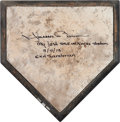 Baseball Collectibles:Others, 2013 Home Plate Used During Mariano Rivera's Final Save at Yankee Stadium....