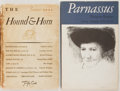 Books:Periodicals, Group of Two Literary Magazines. Includes The Spring/Summer 1974issue of Parnassus and the Summer 1931 issue of The H...(Total: 2 Items)