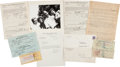 Boxing Collectibles:Memorabilia, 1951 Joe Louis & Marshall Miles Tax Issues Ephemera....