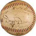 Autographs:Baseballs, 1930's Hall of Famers Multi-Signed Baseball....