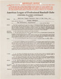 Autographs:Others, 1942 Joe DiMaggio Signed New York Yankees Uniform Player'sContract. ...