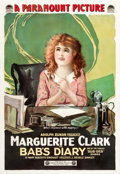 "Movie Posters:Comedy, Bab's Diary (Paramount, 1917). One Sheet (28"" X 41"").. ..."