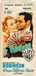 "Movie Posters:Crime, Larceny, Inc. (Warner Brothers, Late 1940s). First Post-War ReleaseItalian Locandina (13"" X 27"").. ..."