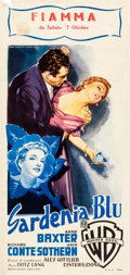 "Movie Posters:Crime, The Blue Gardenia (Warner Brothers, 1953). Italian Locandina (13"" X27"").. ..."