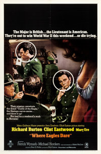 """Where Eagles Dare (MGM, 1968). One Sheet (27"""" X 41"""") Style B"""