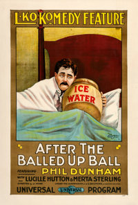 """After the Balled-Up Ball (Universal, 1917). One Sheet (28.5"""" X 42"""")"""