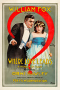 "Movie Posters:Drama, Where Love Leads (Fox, 1916). One Sheet (28.5"" X 42"").. ..."