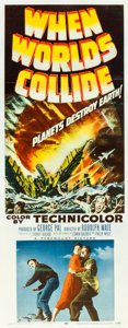 """Movie Posters:Science Fiction, When Worlds Collide (Paramount, 1951). Insert (14"""" X 36"""").. ..."""