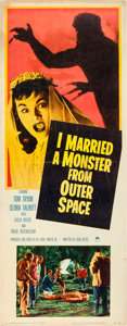 "Movie Posters:Science Fiction, I Married a Monster from Outer Space (Paramount, 1958). Insert (14""X 36"").. ..."