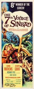 """Movie Posters:Fantasy, The 7th Voyage of Sinbad (Columbia, 1958). Autographed Insert (14""""X 36"""").. ..."""