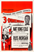 "Movie Posters:Musical, Nat 'King' Cole and Russ Morgan and His Orchestra (Universal International, 1953). One Sheet (27"" X 41"") 3-D Style. Musical...."