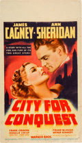 """Movie Posters:Drama, City for Conquest (Warner Brothers, 1940). Midget Window Card (8"""" X14"""").. ..."""