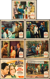 """Red Salute (United Artists, 1935). Title Lobby Card and Lobby Cards (6) (11"""" X 14""""). ... (Total: 7 Items)"""