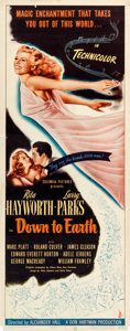 "Movie Posters:Musical, Down to Earth (Columbia, 1947). Insert (14"" X 36"").. ..."