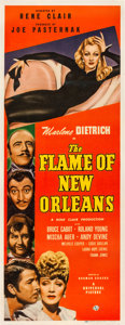 "Movie Posters:Romance, The Flame of New Orleans (Universal, 1941). Insert (14"" X 36"").. ..."