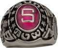 Football Collectibles:Others, 1977 Bill Walsh Sun Bowl Presentation Ring - Stanford Vs. LSU....