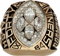 Football Collectibles:Others, 1989 San Francisco 49ers Super Bowl XXIV NFL Championship RingPresented to Bill Walsh....
