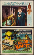 """Movie Posters:Horror, Blood of the Vampire & Other Lot (Universal International, 1958). Title Lobby Card, & Lobby Card (11"""" X 14""""). Horror.. ... (Total: 2 Items)"""