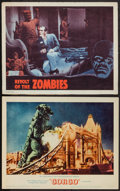 """Movie Posters:Science Fiction, Gorgo & Others Lot (MGM, 1961). Lobby Cards (2) (11"""" X 14""""), & Uncut Pressbook Ad Supplement (6 Pages, 8.5"""" X 13.75""""). Scien... (Total: 3 Items)"""