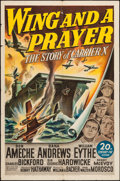 "Movie Posters:War, Wing and a Prayer & Other Lot (20th Century Fox, 1944). OneSheet (27"" X 41""), & Lobby Cards (5) (11"" X 14""). War.. ...(Total: 6 Items)"