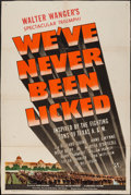 "Movie Posters:War, We've Never Been Licked (Universal, 1943). Trimmed One Sheet (27"" X40.25"") Style D. War.. ..."