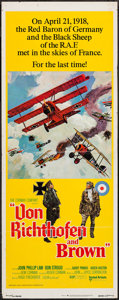 "Movie Posters:War, Von Richthofen and Brown (United Artists, 1971). Insert (14"" X36""). War.. ..."